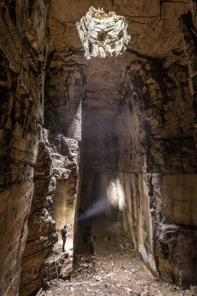 Cathedral Chamber , Box Freestone Mine