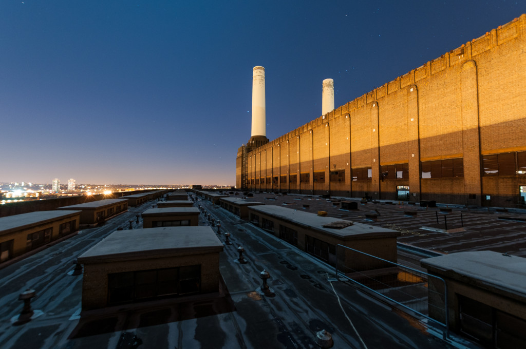 Power Station roof at night