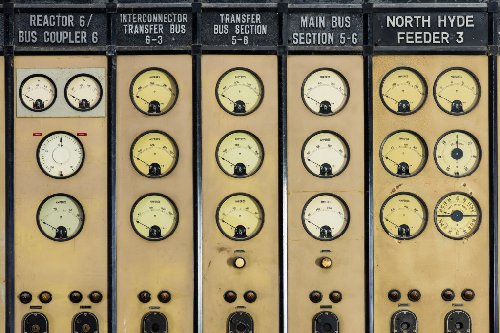 Dials in Control Room A
