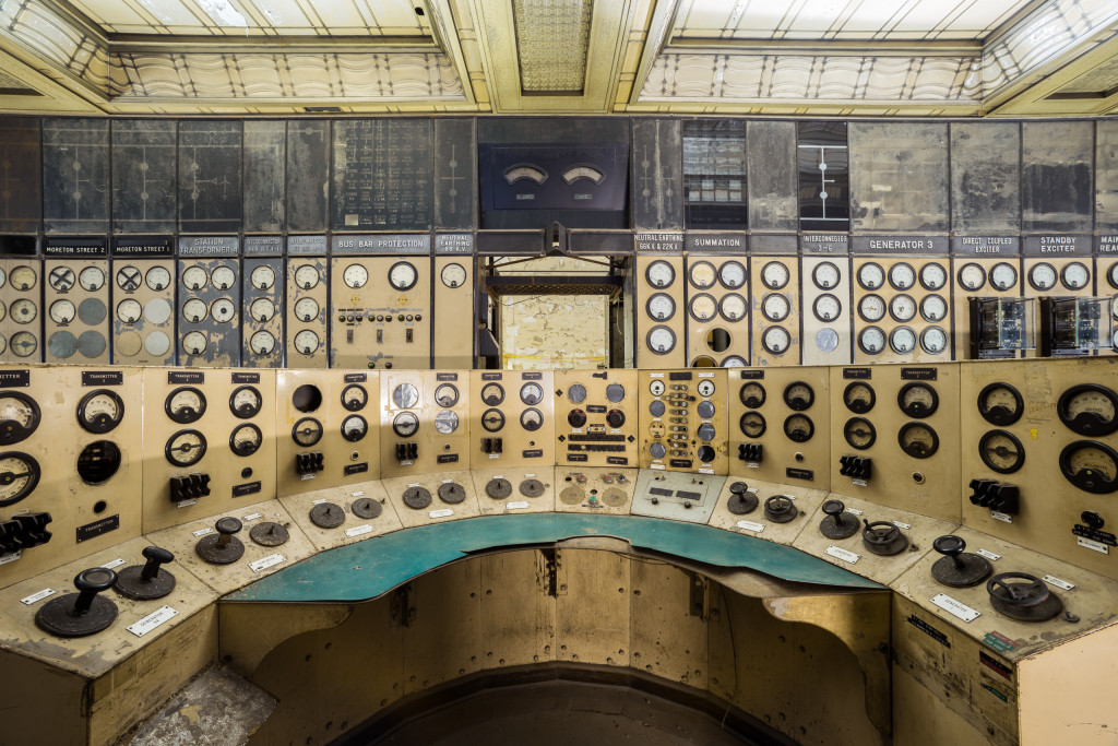 Main Control Panel in Control Room A