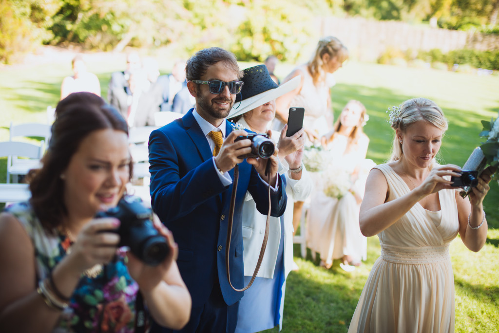 Wedding Guests Take Photos