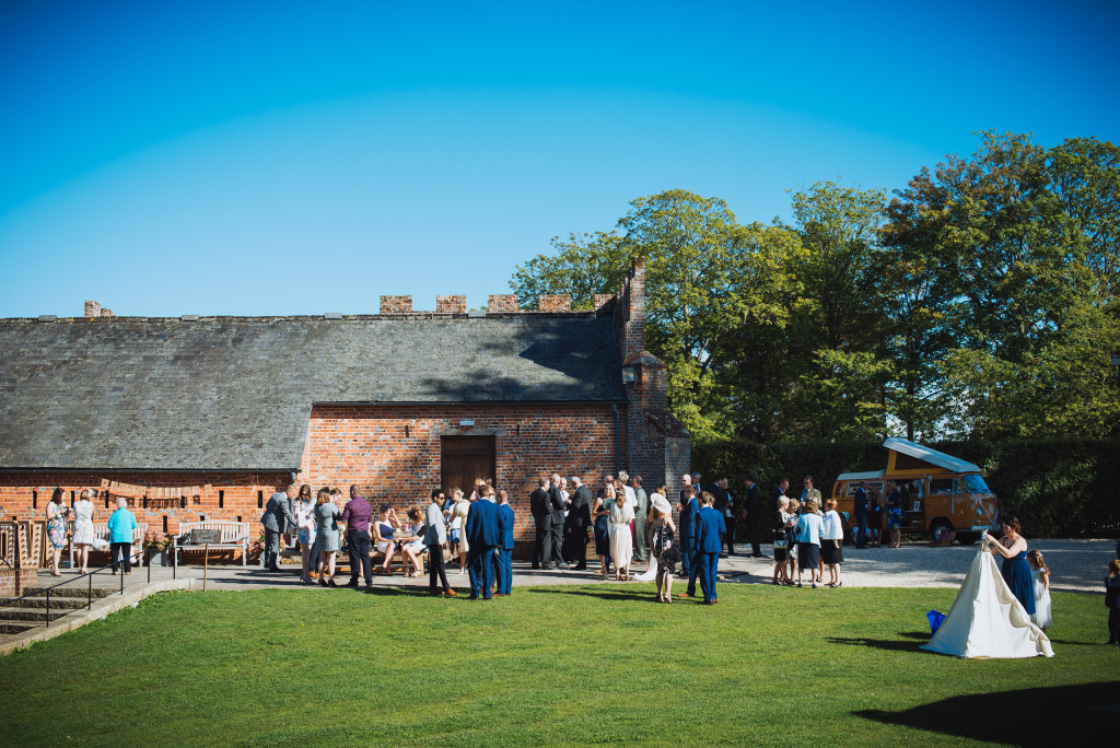 Wedding Guests at Wasing Park Wedding Barn