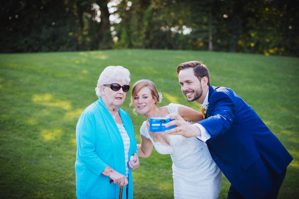 Weddings wouldn't be weddings without a good selfie.