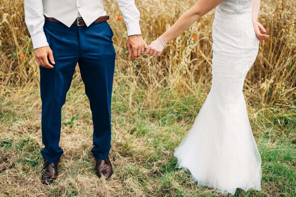 Wheat field wedding.
