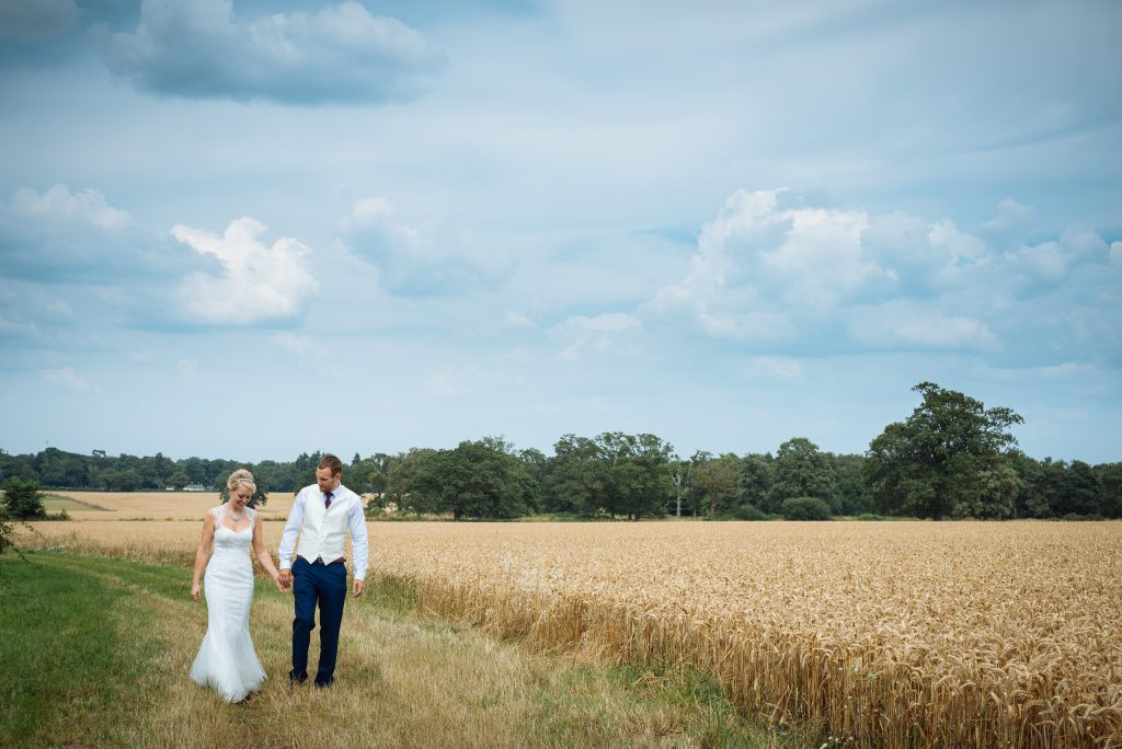 Wheat field Wokingham wedding